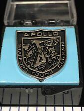 Plated Black Fill Lapel Pin W/Case Nos Apollo 10 X Nasa Lunar Exploration Silver