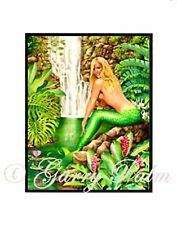 """Maui Mermaid"" 11x14 Print by Hawaii watercolor artist Garry Palm"
