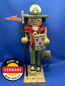 Boy Scout Steinbach Volkskunst Nutcracker Germany 16 Inch ~LIMITED EDITION