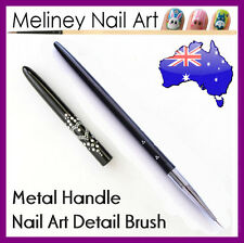 Ultra Thin Nail Art Detail Drawing Brush - Black Metal Handle Painting Pen