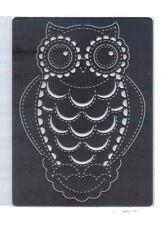 In acciaio inox// stencil/Oblungo/Gufo/Bird/sbalza/Medio