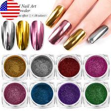10 Boxes Nail Chrome Mirror Effect Powder Pigment Glitter DIY Nail Dust Manicure