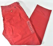 Polo Ralph Lauren Mens Pants 36 x 30 Red Flat Front Stretch Straight Fit Chino