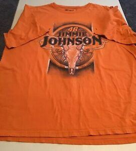 NASCAR Jimmie Johnson #48 Animal Skull Design Graphic T-Shirt Size Adult 2XL