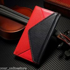 Contrast Color Litchi Leather Wallet Cover Case for iPhone 6 iPhone 6S