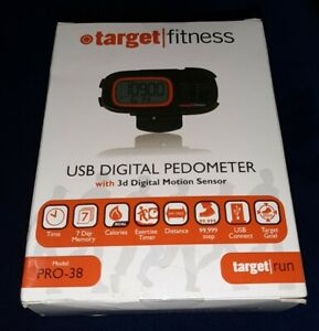 Pro-38 Target Fitness USB digital pedometer NEW AND SEALED