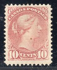 CANADA STAMP #40 — 10c QUEEN - W/ CERT - 1877 - USED