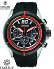 Citizen Eco-Drive Resin Band Mens Steel Case Motor Sports Watch CA4105-02E