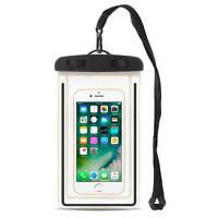 Smartphone Tasche Wasserdicht Schutzhülle bis 6 Zoll Handy Case Cover Schwarz