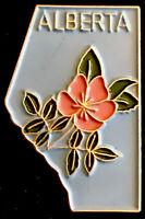 Vintage Alberta Canada Enamel And Gold Tone  Lapel Pin