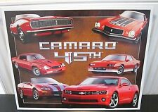 CHEVROLET/ CHEVY CAMARO, 45TH ANNIVERSARY,  STEEL/METAL  WALL SIGN 40X30cm