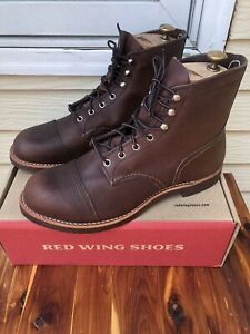 Red Wing Iron Ranger Boots Style #8111 Men's Size 10.5D Made In USA NWB