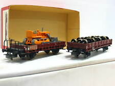 HAG / Märklin H0 2er gesuperte Niederbordwagen m. Ladung SBB / DB AC VP (Q7118)