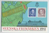 Schweden - Briefmarken-Jahresmappe 1981, postfrisch - bitte ansehen !!