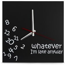 Whatever Wall Clock 12 inch Square 12 Inch 12Inch Genuine Fast Free Ship New
