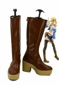 Fairy Tail Lucy Heartfilia Cosplay Shoes Boots Halloween@.