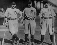Detroit Tigers TY COBB Cleveland Naps JOE JACKSON NAP LAJOIE 8x10 Photo Poster