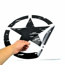 Pair 41x41cm Black US Army Military Star Stickers Decals For All Jeep Wrangler