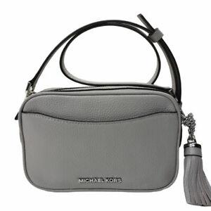 Michael Kors Crossbodies Belt Bag Gray Leather Small Camera Purse Fanny Pack