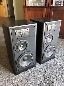 """Vintage JBL LX44 3-Way Speakers Black Ash 8"""" woofers"""