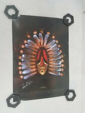 Perry Eaton Signed Print 'The Helper' Cook Inlet Native American Tribe 24x17