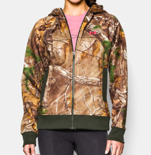 NWT Womens L Large Under Armour Storm Camo Full Zip Logo Hunting Hoodie RV$85