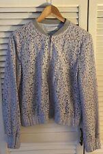 ZARA TRAFALUC powder blue lace ladies bomber style jacket - 12