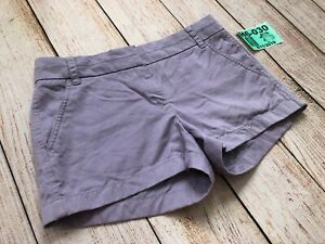 "J. Crew Women Chino Shorts Purple City Fit Style 61456 3"" Inseam Size 0❄️H6-030"