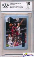1998 Upper Deck #56 Michael Jordan Sticker BECKETT 10 MINT Bulls HOF