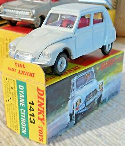 Sublime Vrai Dinky toys Meccano  Citroen Dyane France 1413 + boite origine