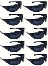 10 Pairs of Sunglasses Blue Frame UV400 Lens Men's Women's Retro Wrap Shades
