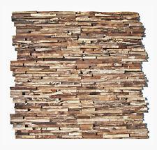 3D Holz Wandverkleidung HO-006 Teak Edelholz Wand Verblender Riemchen Wurzelholz