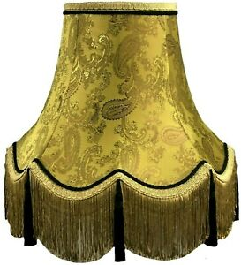 Gold Paisley Table Floor Standard Lamp Lampshades Ceiling Chandelier Wall Lights