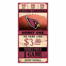 Arizona Cardinals Old Game Ticket Holzschild 30 cm NFL Football Wood Sign