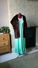 ladies vintage fur stole chestnut brown outerwear evening wrap occasion wear uk