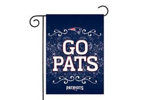 New England Patriots 13x18 Premium Stitched 2-Sided Outdoor Garden Flag Banner