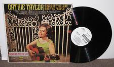 CATHIE TAYLOR Sings of Land & People, orig Reprise promo vinyl LP, 1964, VG+/VG