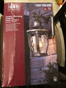 Home Decorators McCarthy 1-Light Bronze Outdoor Wall Lantern Sconce