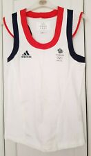 Adidas Team GB London 2012 Official ladies white tennis vest top size 10 new