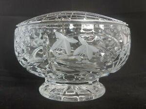 Beautiful Vintage Cut Glass / Crystal Rose Bowl