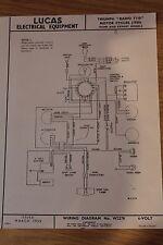 Triumph Radio T110 1955 Lucas Electrical Equipment Original Wiring Diagram