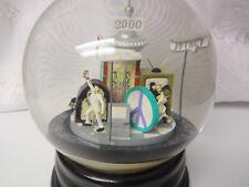 Vintage Millenium 2000 Musical  Motion Snow Water Globe Snowdome Snow Dome