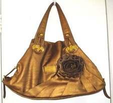 NWOT DOLCE & GABBANA Vogue Artsy Glamour Gold SUPER Large Roomy Bag w/Flower