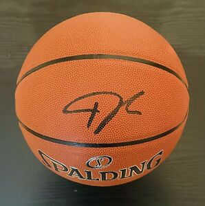 Giannis Antetokounmpo Autographed Spalding NBA Basketball Milwaukee Bucks/ JSA