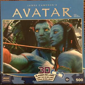 Mega Puzzles Avatar 500 Piece Puzzle with 3D Glasses Brand New Sealed NIB Disney