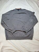 BROOKS BROTHERS 346 Men's Cashmere cotton crew neck Sweater pullover Size Large