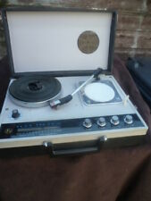 VERY RARE VINTAGE PORTABLE RECORD PLAYER**SOLID STATE RADIO PHONOGRAPH**WORKING