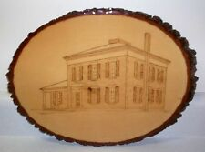 Original Wood Burning Plaque - Pomeroy House - Strongsville Ohio