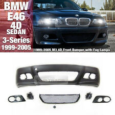 M3 Front Bumper / Grill Glass Fog Lamp For BMW 1999 - 2005 4D 3Series E46 SEDAN