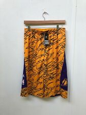Adidas LA Lakers Basketball Kids Reversible Shorts - Various Sizes - Yellow